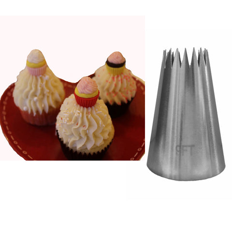 #9FT Big Size Stainless Steel Cake Decorating Pastry Nozzles Icing Piping Tips Bakeware Kitchen Tools  KH115