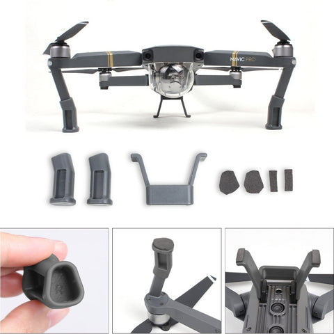 DJI Mavic Pro Accessories Landing Gear Leg Height Extender Kit Riser Stabilizers with Protection Pad Safe Landing Holder Mount