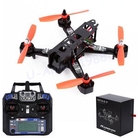 1 Set OCDAY RAZER 210 Size Full Carbon Fiber FPV Racing Drone Quadcopter With Flysky Fs-I6 RTF Wholesale