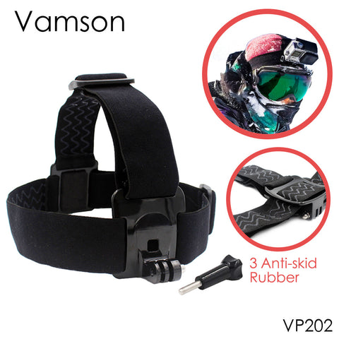Vamson for Gopro Accessories Head Belt Strap Mount Adjustable Elastic For Gopro Hero 4 3+2 1 for SJCAM for Xiaomi for Yi  VP202