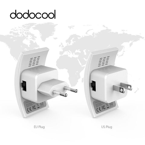 dodocool N300 Wifi Repeat Router 802.11b/g/n Network Wireless Range Extender Signal Booster 2.4GHz 300Mbps Dual Antennas AP Wps