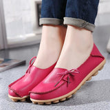 Akexiya New Women Real Leather Shoes Moccasins Mother Loafers Soft Leisure Flats Female Driving Casual Footwear Size 35-42