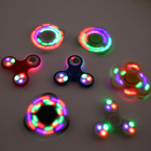 Funny LED Light Hand Finger Spinner Fidget Plastic EDC Hand Spinner For Autism and ADHD Relief Focus Anxiety Stress Gift Toys
