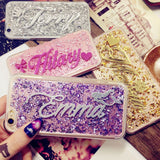 For 5s SE 6s 7 plus Samsung s5 s6 s7 s8 edge plus note 4 5 Luxury Exclusive Customize Name Personal Glitter soft phone case