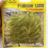 50PCS New hot sale Lure spiral T fish soft bait softbaits artificial baits weest blackfish culter Striped bass fishing gear tool