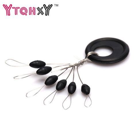 New 10 Group 60PCS Fishing Tackle Resistance Line Space Beans Not to Hurt The Line Vertical Beans Fishing Accessories YE-156