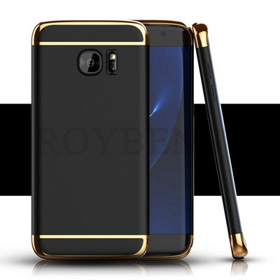 For Samsung Galaxy S7 Edge Case S8 Fashion 3in1 Hard PC Ultra Slim Cover For Apple iPhone 6 6S 7 Plus 5 5S SE Luxury Phone Cases