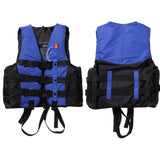 Water Sports Outdoor Polyester Adult Life Jacket Swimming Boating Ski Drifting Prevention Vest Survival Suit With Whistle