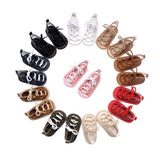 Hongteya Summer infant Gladiator sandals 10 colors Hot sale Pu leather Baby moccasins child Rubber sole Lace-up Baby shoes
