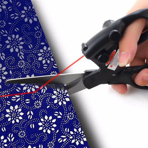 Professional Sewing Laser Guided Scissors for Home Crafts Wrapping Cuts Straight Fast Laser Guided Scissors 2016 Top Sale