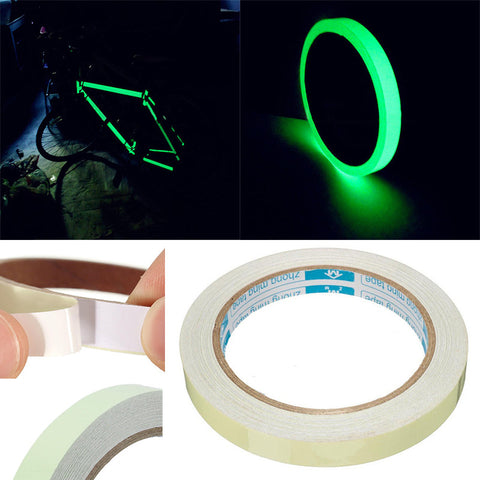 1Pc Luminous Tape Self-adhesive Warning Night Vision Tapes Glow In Dark Safety Sticker For Home Decoration 1.5cm*1m