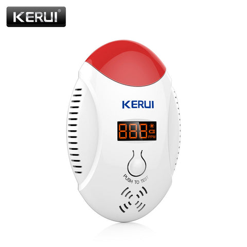 KERUI LED digital display  CO detector voice strobe home security safety CO gas carbon alarm detector Alarm Battery KR-CD17