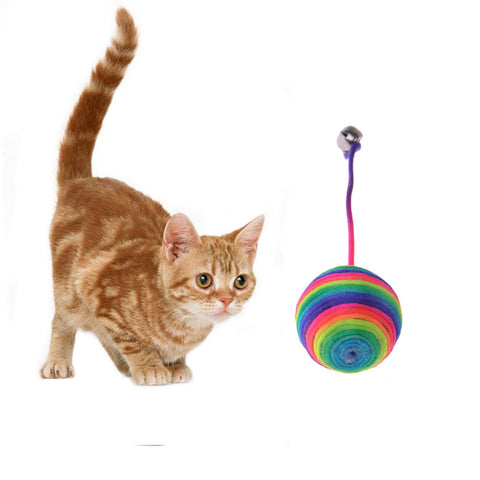 Pet Cat Toy Funny  Cat Dog Scratch Toys Kitten Teaser Playing Play Chew Rattling Ball Rope Weave Ball Cat Training Supplies