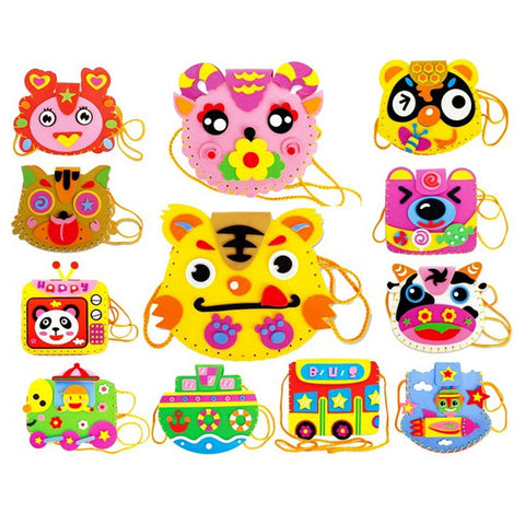 EVA DIY Bags Cute Flower Style Bag Handmade Crafts Cartoon Sewing Backpacks Kids Children Creative Toys for Photo Frame