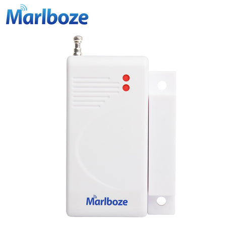 Brandnew White 1Pcs Wireless Home Security Door Window Magnet Sensor Detector with Battery 433MHz for Wireless Aalrm System