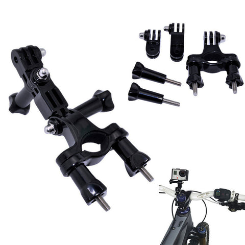 Gopro Accessories Bike Bicycle Handlebar Mount Adjust Holder Tripod for Go Pro Hero 3+ 4 5 Xiaomi Yi II 4K Sjcam SJ4000 Eken H9