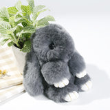 Cute Genuine Rex Rabbit Plush Toy Pendant Key-chain Bag Car Charm Tag Mini Rabbit Furs Toys Doll