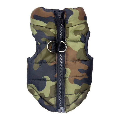 Winter Puppy Dog Coat Vest Clothing Camouflage Print Zipper Dog Jacket Chihuahua Clothes For Small Dogs Pet Products Costume
