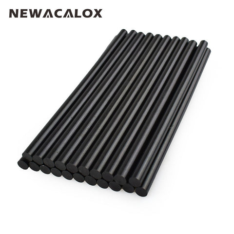 NEWACALOX Gun Adhesive DIY Tools Alloy Accessories Repair 20 pcs/lot 150mm Black Hot Melt Glue Sticks 7mm