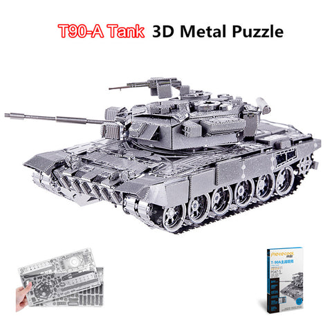 Piececool T90-A Tank 3D Laser Cut DIY Military Model Kits Metal Earth 3D Puzzle DIY Educational Toys Arts & Crafts Decoration