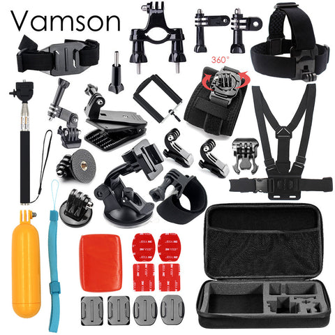 Vamson for Gopro Hero 5 Accessories Set For Gopro Hero 5 black hero 4 3+ session for xiaomi for SJCAM Accessories VS79