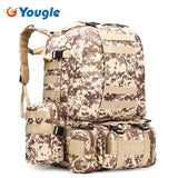 YOUGLE 50L Molle Tactical Outdoor Assault Military Rucksacks Backpack Camping Bag New