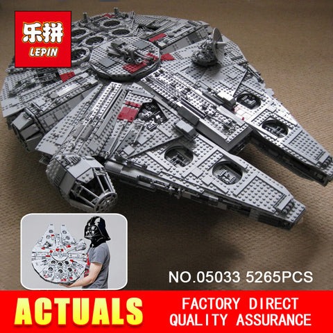 LEPIN 05033 5265Pcs Star Wars Ultimate Collector's Millennium Falcon Model Building Kit Blocks Bricks Toy Gift Compatible 10179