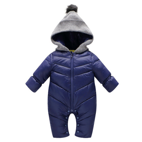 Baby Rompers Baby Clothes Baby Down Coat Jacket Parka Winter Warm Jacket Baby Boys Girls Hooded Kids Infant Clothing Jumpsuits