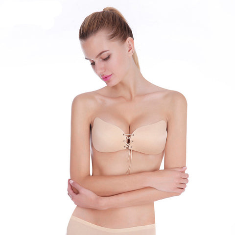 Women Bra Invisible Strapless Bra Push Up Silicone Women's Bras Intimates bras Cup A B C D DD