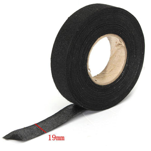 1 Pcs 15m Automotive Wiring Harness Electrical Tape 15M*19MM Heat-resistant Adhesive Cloth Fabric Tape Cable For Car Auto