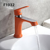 FRAP Innovative Fashion Style Home Multi-color Bath Basin Faucet Cold and Hot Water Taps Green Orange White F1031 F1032 F1033