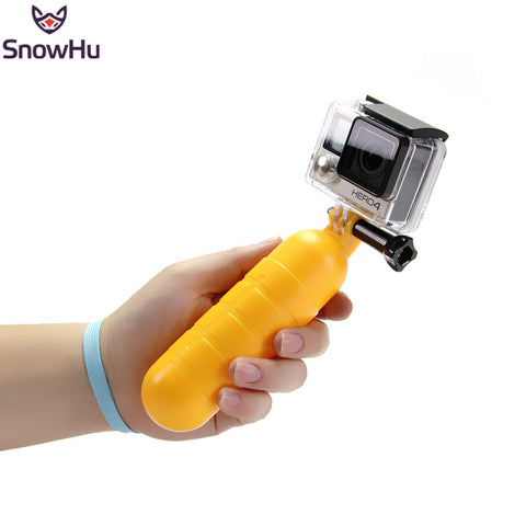 SnowHu Arrival Yellow Water Floating Hand Grip Handle Mount Float Accessory for Gopro Hero 5 4 3+ For XIAOMI for YI 4K EKEN GP82