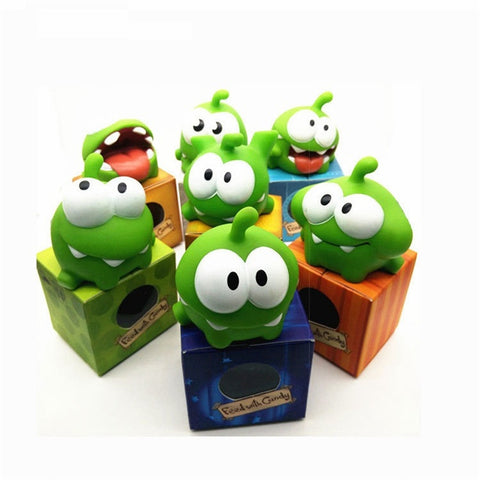 2017 Random Style Cut the Rope OM NOM Candy Gulping Monster Toy Figure with Sound Kids Baby Birthday Christmas Toy Gift