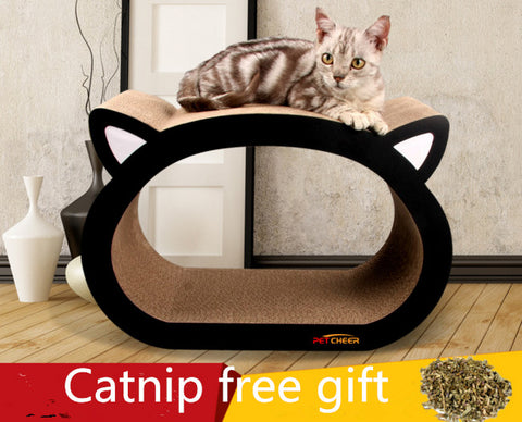 Free shipping pet cat kitten Cat Kitten Corrugated Scratch Board Pad Scratcher Bed Mat Claws Care Interactive Toy cat face