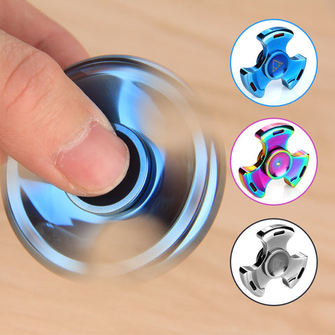Do Dower Tri-spinner Fidget Spinner Steel Hand Spinner 688 Hybrid Ceramic Bearing Educational Toys Spinner Hand Anti Stress Toy