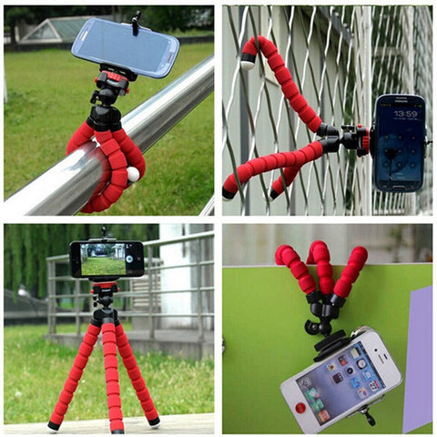 Bicycle car style mobile phone holder flexible octopus tripod bracket selfie stand mount monopod support For Apple iphone camera
