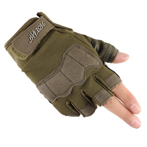 2017 Brand Half Finger Army Military Tactical Gloves Men
