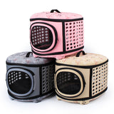 Portable Dog Carrier Bags Cats Travel Bag Folding Medium-Size Dog Pets Carrier flower Cage Collapsible Crate Tote Handbag
