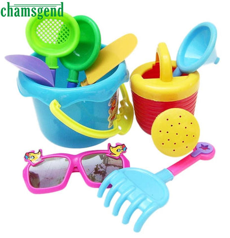 CHAMSGEND 9Pcs Sand Sandbeach Kids Beach Toys Castle Bucket Spade Shovel Rake Water Tools Toys for Kids  High Quality WNov29