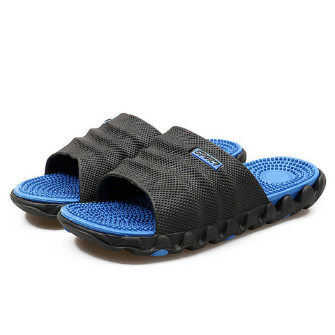 YIQITAZER 2017 New Summer Cool Water Flip Flops Men High quality Soft Massage Beach Slippers,Fashion Man Casual Shoes