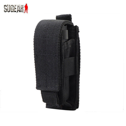 Outdoor Multifunctional Molle Nylon Flashlight Pouch Tactical Portable EDC Utility Knife Bag Military Adjustable Durable Pocket