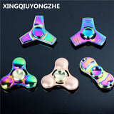 Hot Selling EDC Toys Triangular Hand Spinner Color Metal Hand Spinner ADHD Profession Tri Spinner Fidget Spinner Gift For Boy