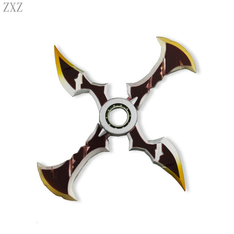 LOL Draven Shuriken Zinc Alloy Rotatable Darts Weapons Model Kids toys Christmas Gift De levin's hand spinner top game toys gift