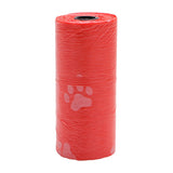 5 Rolls =75PCS Multicolor 1Roll/15PCS Pet Dog Waste Poop Bag Poo Printing Degradable Clean-up