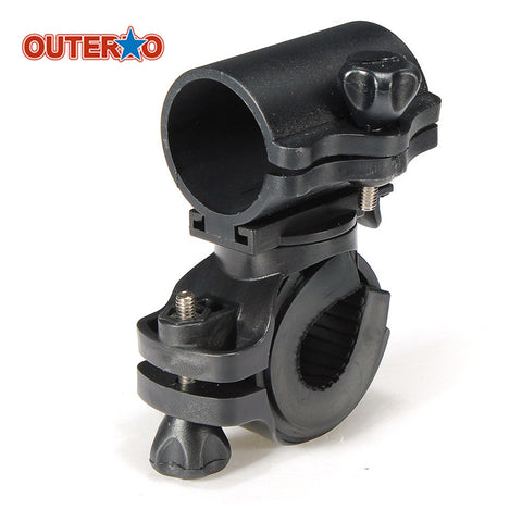OUTERDO Portable Cycling Bike Bicycle Light Lamp Stand Holder Rotation Grip LED Flashlight Torch Clamp Clip Mount Bracket