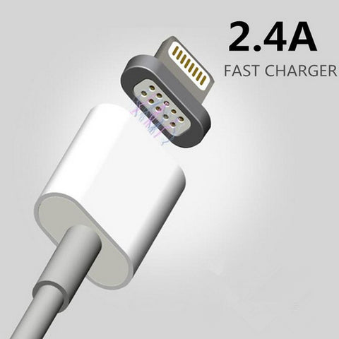 For iPhone Apple 7 6 5 6s Samsung Magnet Charging Cable Android Mobile Phone Charger Cord Adapter Magnetic Micro Usb Data Cable