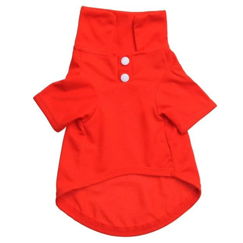 Pet Clothes Dog Solid color Polo Shirt Apparel Lapel Costume Dog Clothes T-shirt Casual Puppy Suit Cotton Clothes Cozy Shirt