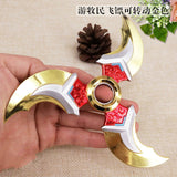 GENJI Weapons CosplayShurikens Children Darts Zinc Rotated Alloy Game Spinner Collection Model Toys Kids Gifts Action Figure