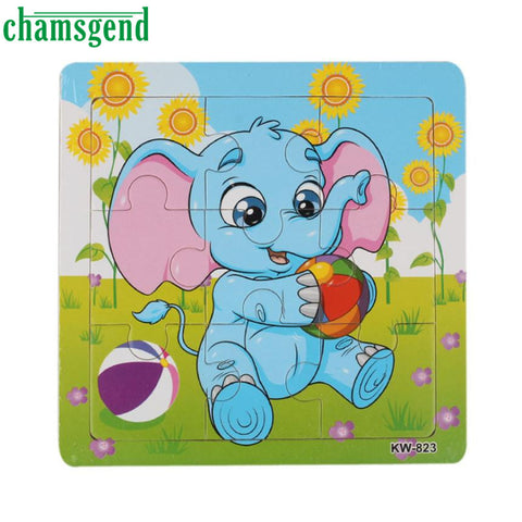 High Quality Wooden Elephant Jigsaw Toys For Kids Education And Learning Puzzles Toys Levert Dropship Aug10