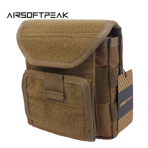 AIRSOFTPEAK Tactical Molle Magazine Pouch Military Paintball Accessory Storage Pouches Hunting Sports Bag Vest Pack Pouch Tan